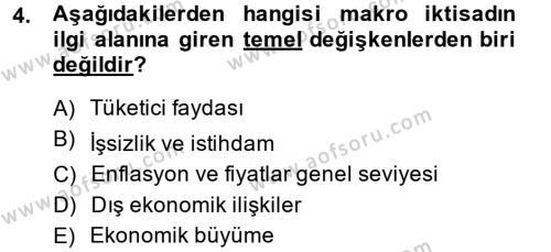 İktisada Giriş 2 Dersi 2013 - 2014 Yılı Ara Sınavı 4. Soru