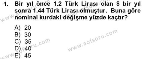 Maliye Bölümü 4. Yarıyıl Makro İktisat Dersi 2014 Yılı Bahar Dönemi Ara Sınavı 1. Soru