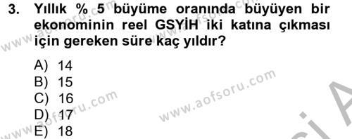 Maliye Bölümü 4. Yarıyıl Makro İktisat Dersi 2014 Yılı Bahar Dönemi Ara Sınavı 3. Soru