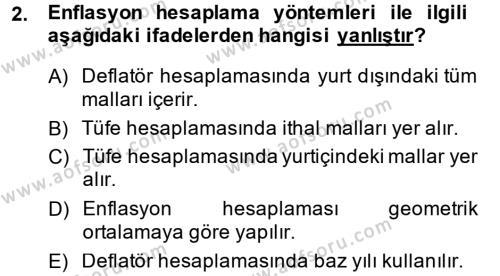 Maliye Bölümü 4. Yarıyıl Makro İktisat Dersi 2015 Yılı Bahar Dönemi Ara Sınavı 2. Soru