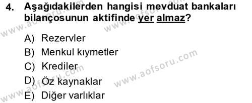 Para Politikası Dersi 2013 - 2014 Yılı (Vize) Ara Sınav Soruları 4. Soru