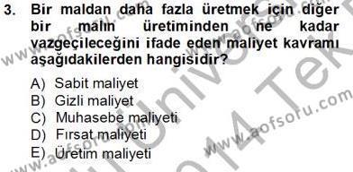 Uluslararası İlişkiler Bölümü 5. Yarıyıl Uluslararası İktisat Teorisi Dersi 2014 Yılı Güz Dönemi Tek Ders Sınavı 3. Soru