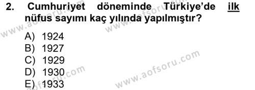 Türkiye Ekonomisi Dersi 2012 - 2013 Yılı Ara Sınavı 2. Soru