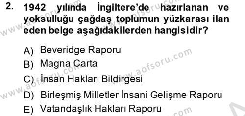 Türkiye Ekonomisi Dersi 2013 - 2014 Yılı Tek Ders Sınavı 2. Soru