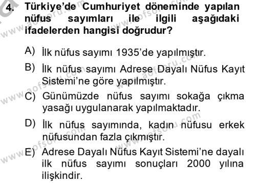 Türkiye Ekonomisi Dersi 2014 - 2015 Yılı Ara Sınavı 4. Soru