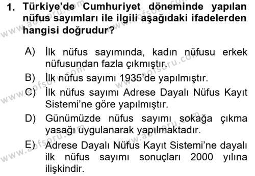 Türkiye Ekonomisi Dersi 2015 - 2016 Yılı Ara Sınavı 1. Soru
