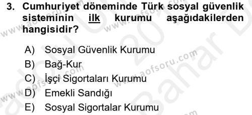 Türkiye Ekonomisi Dersi Ara Sınavı Deneme Sınav Soruları 3. Soru