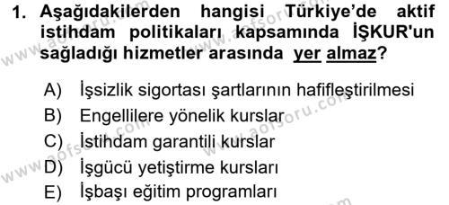 Türkiye Ekonomisi Dersi 2018 - 2019 Yılı (Vize) Ara Sınav Soruları 1. Soru