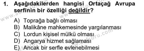 İktisat Bölümü 8. Yarıyıl İktisat Tarihi Dersi 2013 Yılı Bahar Dönemi Ara Sınavı 1. Soru