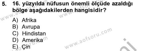İktisat Bölümü 8. Yarıyıl İktisat Tarihi Dersi 2013 Yılı Bahar Dönemi Ara Sınavı 5. Soru