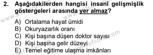 İktisat Bölümü 8. Yarıyıl İktisat Tarihi Dersi 2014 Yılı Bahar Dönemi Ara Sınavı 2. Soru
