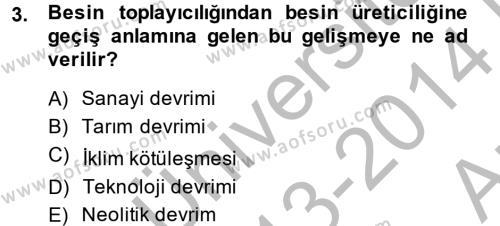 İktisat Tarihi Dersi 2013 - 2014 Yılı (Vize) Ara Sınav Soruları 3. Soru