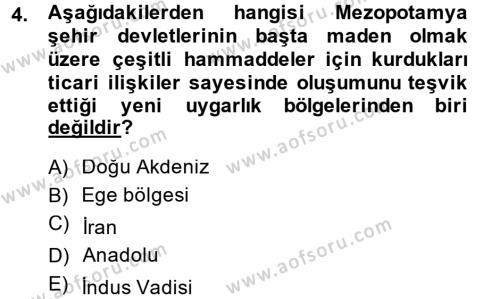 İktisat Tarihi Dersi 2013 - 2014 Yılı (Vize) Ara Sınav Soruları 4. Soru