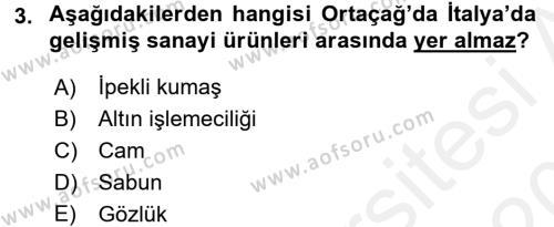 İktisat Tarihi Dersi 2015 - 2016 Yılı Tek Ders Sınav Soruları 3. Soru