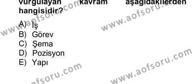 Örgütlerde İnsan Kaynakları Yönetimi Dersi Ara Sınavı Deneme Sınav Soruları 11. Soru