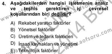 İnsan Kaynakları Yönetimi Bölümü 2. Yarıyıl Örgütlerde İnsan Kaynakları Yönetimi Dersi 2014 Yılı Bahar Dönemi Ara Sınavı 4. Soru