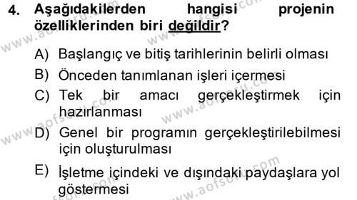 Performans Yönetimi Dersi 2014 - 2015 Yılı (Final) Dönem Sonu Sınav Soruları 4. Soru