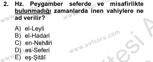 İlahiyat Bölümü 2. Yarıyıl Tefsir Tarihi ve Usulü Dersi 2014 Yılı Bahar Dönemi Tek Ders Sınavı 2. Soru