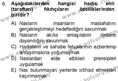 İslam Hukukuna Giriş Dersi Ara Sınavı Deneme Sınav Soruları 6. Soru