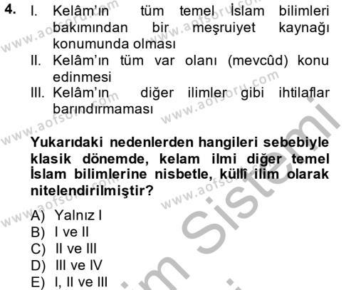 İslam Hukukuna Giriş Dersi 2014 - 2015 Yılı (Vize) Ara Sınav Soruları 4. Soru