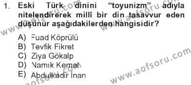 İlahiyat Bölümü 2. Yarıyıl Türk İslam Edebiyatı Dersi 2013 Yılı Bahar Dönemi Tek Ders Sınavı 1. Soru