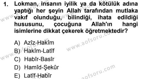 İlahiyat Bölümü 3. Yarıyıl Tefsir Dersi 2013 Yılı Güz Dönemi Ara Sınavı 1. Soru