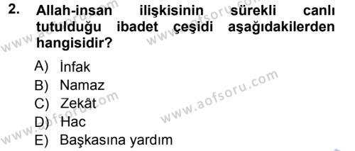 Tefsir Dersi 2012 - 2013 Yılı Dönem Sonu Sınavı 2. Soru
