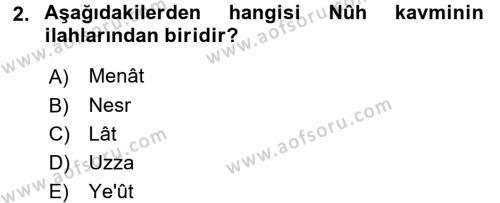 İlahiyat Bölümü 3. Yarıyıl Tefsir Dersi 2017 Yılı Güz Dönemi Ara Sınavı 2. Soru
