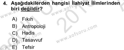 Din Psikolojisi Dersi Ara Sınavı Deneme Sınav Soruları 4. Soru
