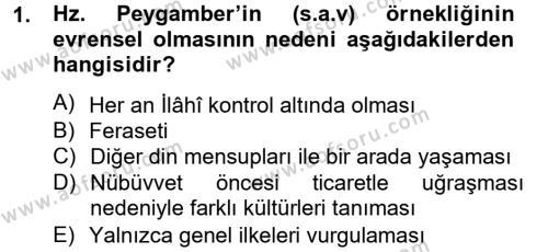 Hadis Dersi 2012 - 2013 Yılı (Vize) Ara Sınav Soruları 1. Soru