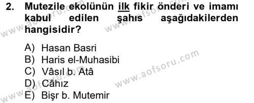 Kelam´a Giriş Dersi 2012 - 2013 Yılı (Final) Dönem Sonu Sınav Soruları 2. Soru