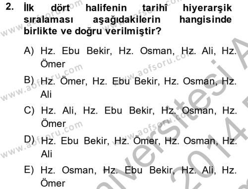 Kelam´a Giriş Dersi 2013 - 2014 Yılı (Final) Dönem Sonu Sınav Soruları 2. Soru