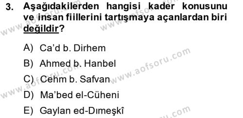 Kelam´a Giriş Dersi 2013 - 2014 Yılı (Final) Dönem Sonu Sınav Soruları 3. Soru