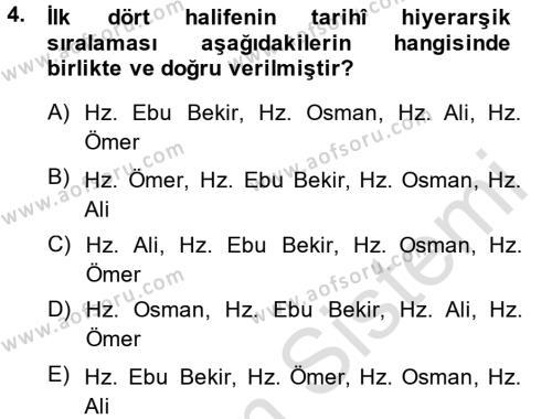 İlahiyat Bölümü 4. Yarıyıl Kelam'a Giriş Dersi 2014 Yılı Bahar Dönemi Tek Ders Sınavı 4. Soru
