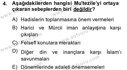Kelam´a Giriş Dersi 2014 - 2015 Yılı (Final) Dönem Sonu Sınav Soruları 4. Soru