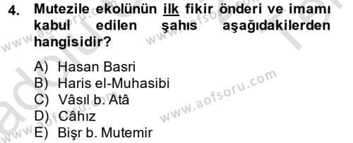 Kelam´a Giriş Dersi 2014 - 2015 Yılı Tek Ders Sınav Soruları 4. Soru