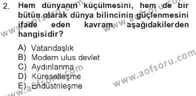 İlahiyat Bölümü 4. Yarıyıl Din Sosyolojisi Dersi 2013 Yılı Bahar Dönemi Tek Ders Sınavı 2. Soru