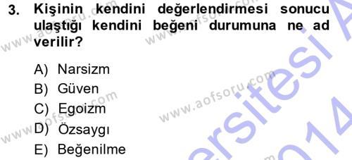 Adalet Bölümü 1. Yarıyıl Halkla İlişkiler Ve İletişim Dersi 2014 Yılı Güz Dönemi Dönem Sonu Sınavı 3. Soru