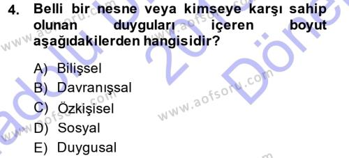 Halkla İlişkiler Ve İletişim Dersi 2013 - 2014 Yılı Dönem Sonu Sınavı 4. Soru