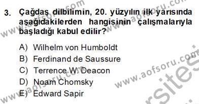 Sözlü ve Sözsüz İletişim Dersi 2013 - 2014 Yılı Dönem Sonu Sınavı 3. Soru