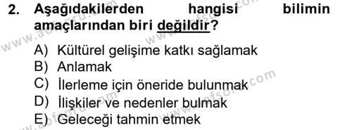 Medya ve İletişim Bölümü 2. Yarıyıl İletişim Kuramları Dersi 2013 Yılı Bahar Dönemi Ara Sınavı 2. Soru