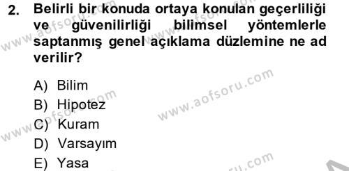 İletişim Kuramları Dersi 2013 - 2014 Yılı (Vize) Ara Sınav Soruları 2. Soru