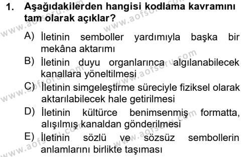 Kültürel Miras ve Turizm Bölümü 4. Yarıyıl Kültürlerarası İletişim Dersi 2013 Yılı Bahar Dönemi Ara Sınavı 1. Soru