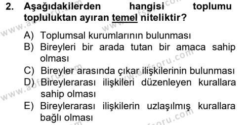 Kültürel Miras ve Turizm Bölümü 4. Yarıyıl Kültürlerarası İletişim Dersi 2015 Yılı Bahar Dönemi Dönem Sonu Sınavı 2. Soru