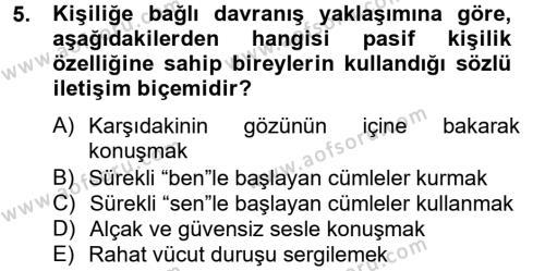Kültürel Miras ve Turizm Bölümü 4. Yarıyıl Kültürlerarası İletişim Dersi 2015 Yılı Bahar Dönemi Dönem Sonu Sınavı 5. Soru