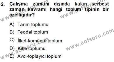İngilizce Öğretmenliği Bölümü 3. Yarıyıl Toplum ve İletişim Dersi 2015 Yılı Güz Dönemi Ara Sınavı 2. Soru