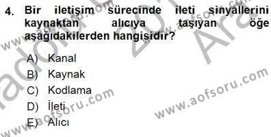 İngilizce Öğretmenliği Bölümü 3. Yarıyıl Toplum ve İletişim Dersi 2016 Yılı Güz Dönemi Ara Sınavı 4. Soru