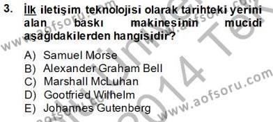 Marka İletişimi Bölümü 4. Yarıyıl Dijital İletişim ve Yeni Medya Dersi 2014 Yılı Bahar Dönemi Tek Ders Sınavı 3. Soru