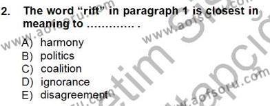 İngilizce Öğretmenliği Bölümü 1. Yarıyıl Okuma Ve Yazma Becerileri I Dersi 2013 Yılı Güz Dönemi Ara Sınavı 2. Soru