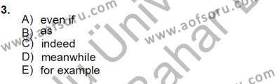 Bağlamsal Dilbilgisi 4 Dersi 2012 - 2013 Yılı Dönem Sonu Sınavı 3. Soru